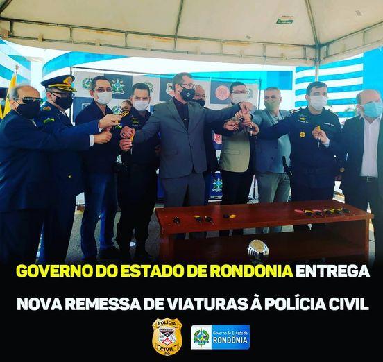 Governo do Estado de Rondônia entrega viaturas à PCRO.